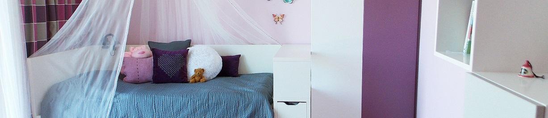 fialový dívčí pokoj